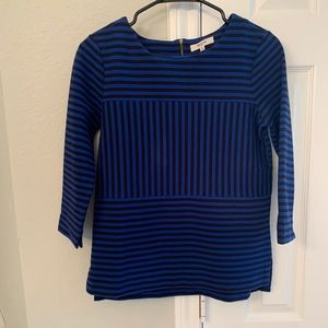 MADEWELL,S, 3/4 SLEEVE IN COLBALT BLUE AND BLACK